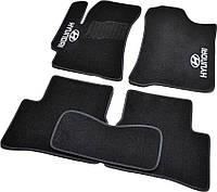 Коврики в салон ворсовые для Hyundai Accent (2006-2010) (Verna) /Чёрн, Стандарт BLCCR1214, фото 1