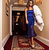 Платье с открытым плечами и двойной юбкой макраме (разные цвета), фото 2