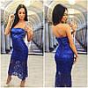 Платье с открытым плечами и двойной юбкой макраме (разные цвета), фото 5