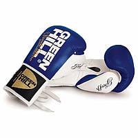 Профессиональные боксерские перчатки Green Hill на шнурках PROFFI натуральная кожа