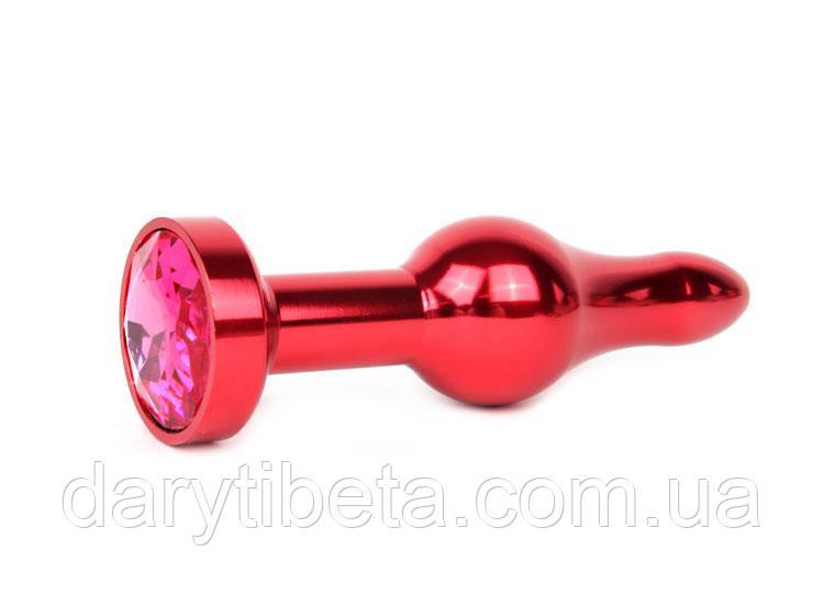 ЧЕРВОНА АНАЛЬНА ВТУЛКА, L 103 мм D 28 мм, вага 80г, колір кристала рубіновий