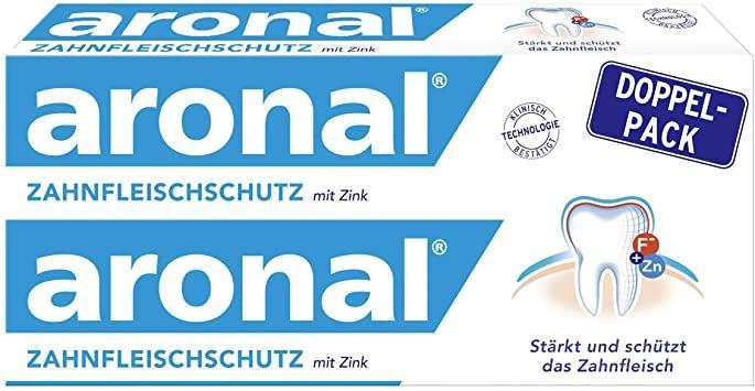 Зубна паста медична для захисту ясен Aronal 2*75мл.