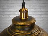 Люстра в стиле лофт на один плафон Diasha 6858-360-BK-G, фото 5