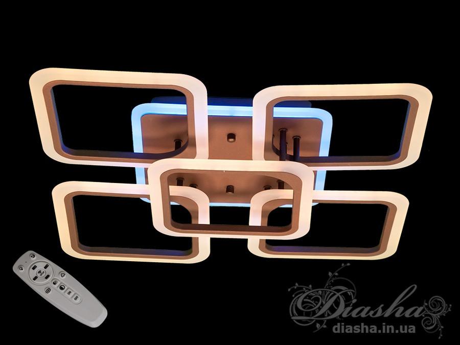 Люстри світлодіодні Diasha A8060/4+1CF LED 3color dimmer