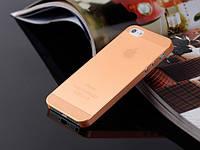 Пластиковый чехол для iPhone 5/5s оранжевый