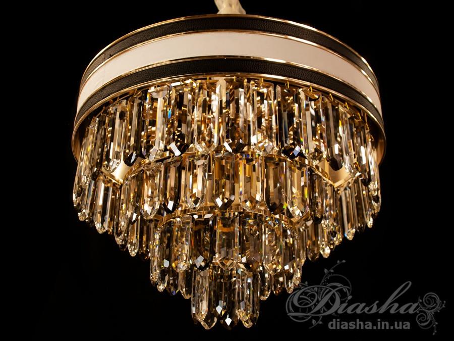 Люстры светильники хрустальные под классику Diasha  L8080-500G+WH+BK