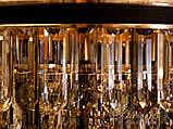 Люстры светильники хрустальные под классику Diasha  L8080-500G+WH+BK, фото 4