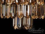 Люстры светильники хрустальные под классику Diasha  L8080-500G+WH+BK, фото 5