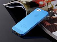 Пластиковый чехол для iPhone 5/5s синий