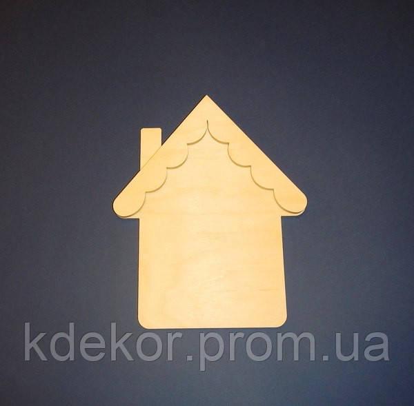 Домик (Дом) с трубой и фигурной крышей заготовка для декупажа и декора