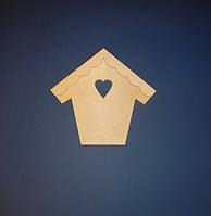 Домик ключница  с сердечком заготовка для декупажа и декора