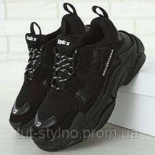 Мужские кроссовки в стиле Balenciaga Triple S, черный, Италия