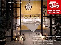 Ліжко Диасция 140*190 металева з м'яким узголів'ям, фото 1