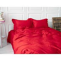 Двуспальное постельное белье Ranforce красный цвет