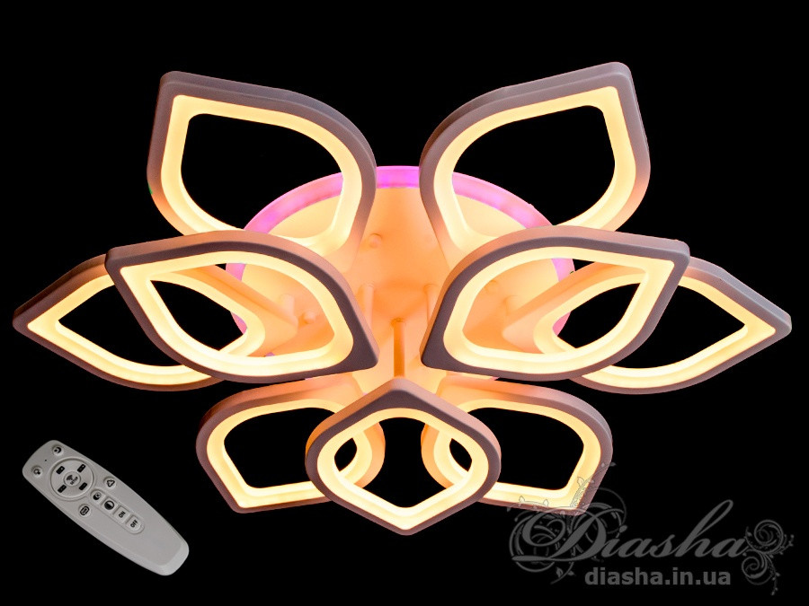 Світлодіодні люстри Diasha 8073/6+3WH LED 3color dimmer