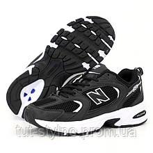 Мужские кроссовки в стиле New Balance 530, черно-белый, Вьетнам