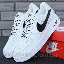 Мужские кроссовки в стиле Nike Air Force 1 Low, кожа, белый, Вьетнам