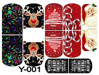 Слайдер дизайн (водная наклейка) для ногтей Y-001