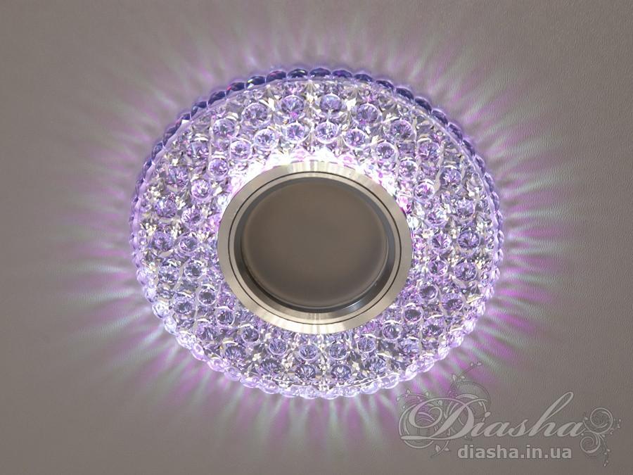Точечные светильники с подсветкой Diasha 2302WH+PK