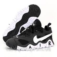 Мужские кроссовки в стиле Nike Air Barrage MID, кожа, черный, Вьетнам