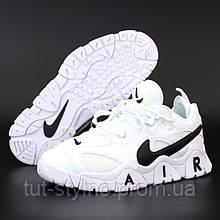 Мужские кроссовки в стиле Nike Air Barrage MID, кожа, белый, Вьетнам