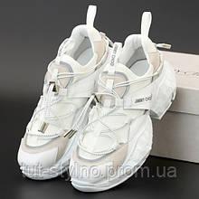 Женские кроссовки в стиле Jimmy Choo DIAMOND TRAIL, белый, Вьетнам