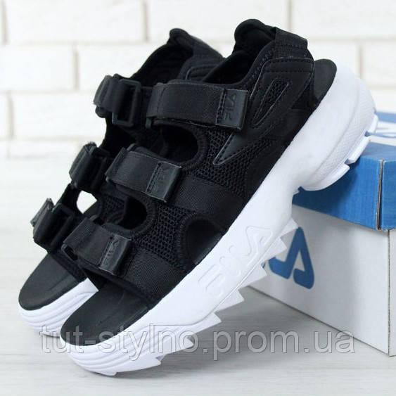 Мужские сандалии в стиле Fila Disruptor 2 Sandal, черный, Китай