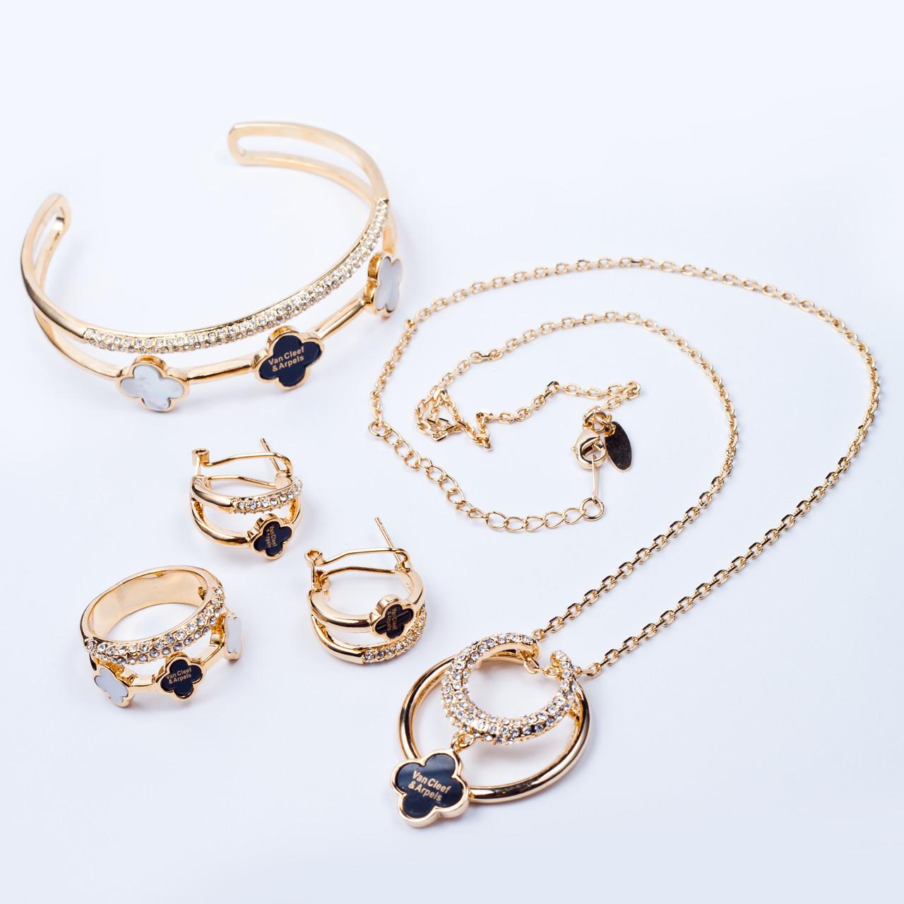 4e98aa46a332 Набор (Серьги, кольцо, кулон с цепочкой, браслет)  продажа, цена в ...