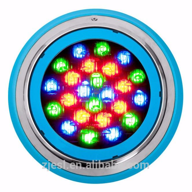 Підводний накладний світильник для басейну 18 ват RGB D218mm з пультом IP68 Ecolend