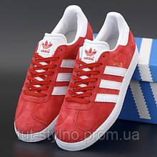 Мужские кроссовки в стиле Adidas Gazelle OG, красный, белый, Вьетнам 42
