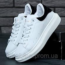 Мужские кроссовки в стиле Alexander Mcqueen LACE-UP SNEAKER, черно-белый, Вьетнам