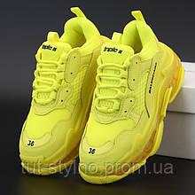 Мужские кроссовки в стиле Balenciaga Triple S, желтый, Италия