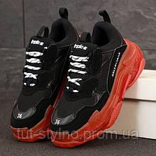 Женские кроссовки в стиле Balenciaga Triple S, черный, красный, Италия