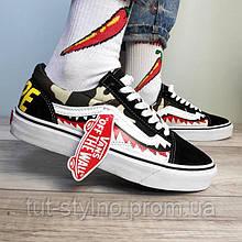 Мужские кеды в стиле Vans Old Skool, черный, белый, хаки, желтый, красный, Китай