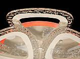 Світлодіодна люстра Diasha QX2524/4+4S WH LED 3color dimmer, фото 4
