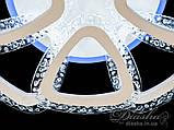 Світлодіодна люстра Diasha QX2524/4+4S WH LED 3color dimmer, фото 6