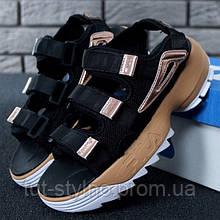 Женские сандалии в стиле Fila Disruptor 2 Sandal, черный, бежевый, Китай