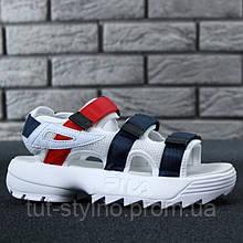 Женские сандалии в стиле Fila Disruptor 2 Sandal, белый, синий, красный, Китай