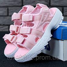 Женские сандалии в стиле Fila Disruptor 2 Sandal, розовый, Корея