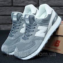 Мужские кроссовки в стиле New Balance 574, серый, белый, Вьетнам