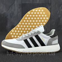 Мужские кроссовки в стиле Adidas Iniki RUNNER BOOST, серый, черный, белый, Вьетнам