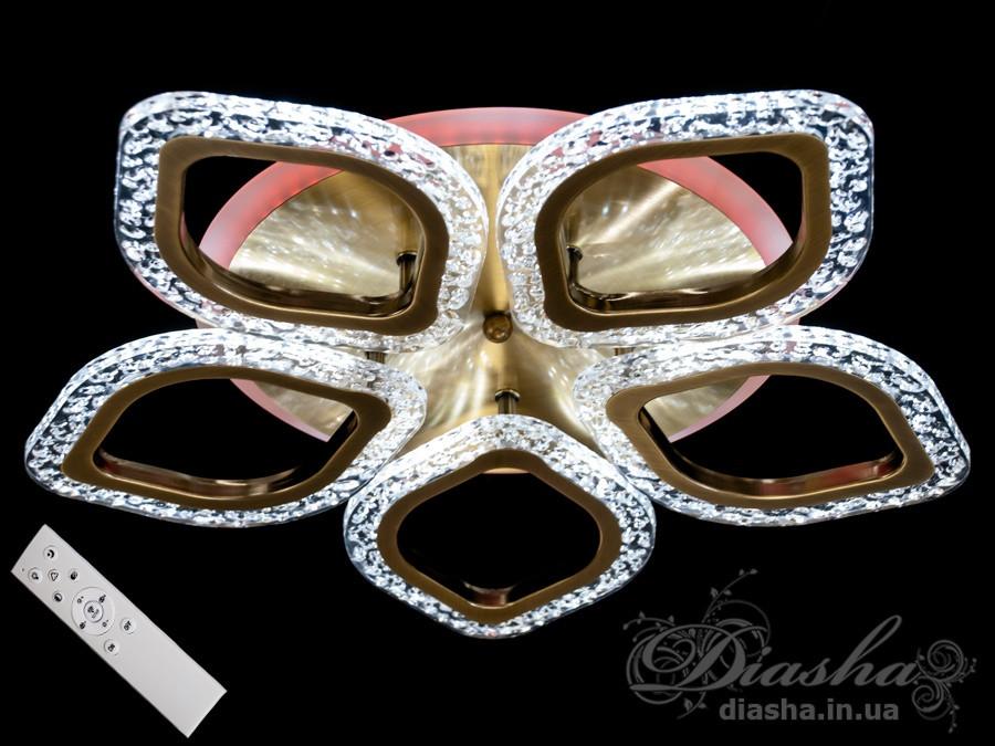 Cветодиодная люстра Diasha QX2522/5S BR LED 3color dimmer