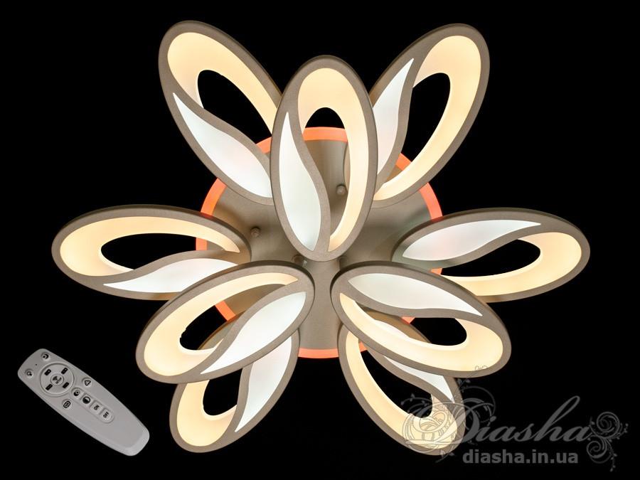 Светодиодная люстра Diasha 8090/6+3BK LED 3color dimmer