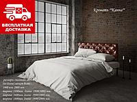 Ліжко Канна 140*190 металева з м'яким узголів'ям, фото 1