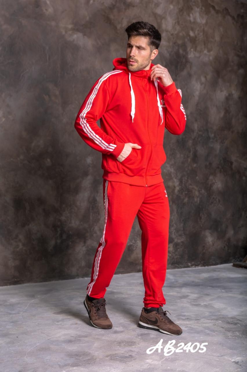 """Спортивний весняний чоловічий костюм з лампасами, кофта на змійці з капюшоном, великі розміри, серія """" він і вона"""""""