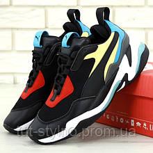 Женские кроссовки в стиле Puma Thunder Spectra, черный, голубой, красный, желтый, Вьетнам