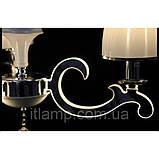 Люстра абажурная светодиодная на 3 плафона Diasha 8316/3, фото 4