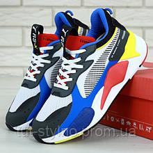 Мужские кроссовки в стиле Puma RS-X Toys, синий, красный, белый, черный, желтый, Вьетнам