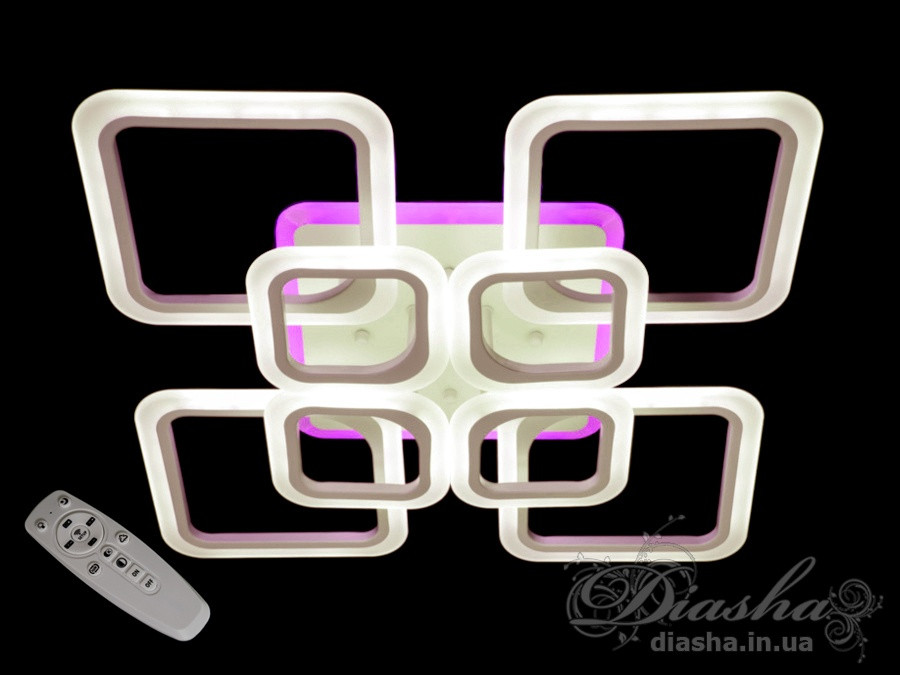 Люстри світлодіодні Diasha A8060/4+4WH LED 3color dimmer