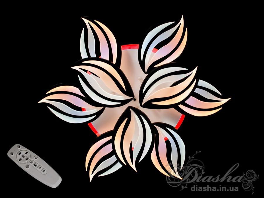 Люстри світлодіодні Diasha 8092/6+3BK LED 3color dimmer
